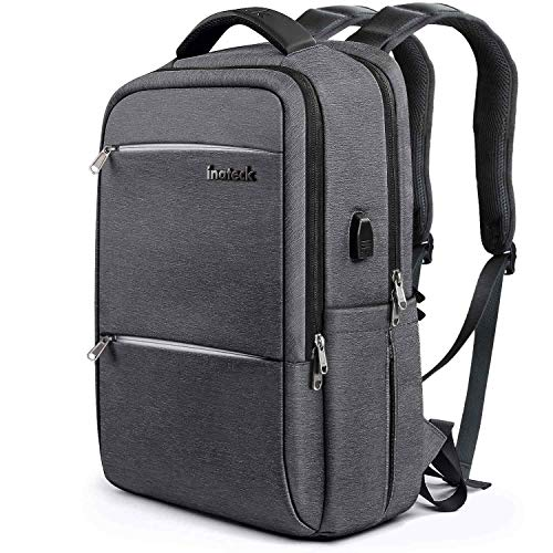 83e450dfa72c Inateck CB1001S Slim Business Travel Laptop Backpack Bag Rucksack with  Waterproof Rain Cover