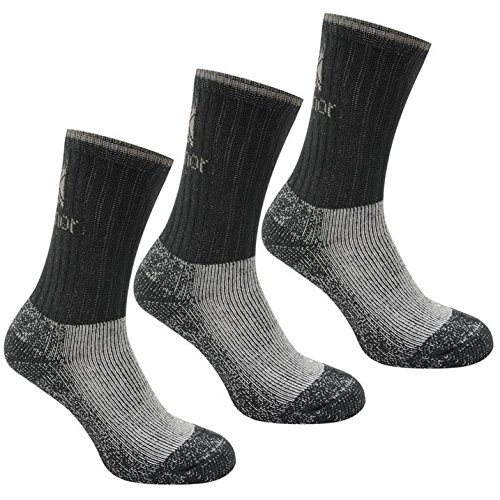 Karrimor Heavyweight Boot Socks Black Washable 3 Pack Kids Accessories