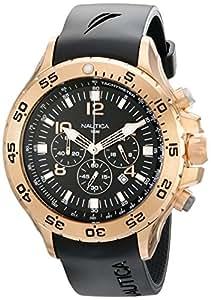 NAUTICA - N18523G - Chronographe - Montre Homme - Bracelet en resin noire