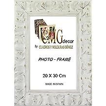 Portafotos de madera de pino CMGdecor con Grabado decorado RF F02 (20 X 30 Cm