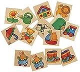 Selecta 63016  Memo Primo, Legespiel, 24 Teile, Mehrfarbig