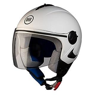 BHR Helm Demi-Jet Kinder, Weiß, 49-50 (S)