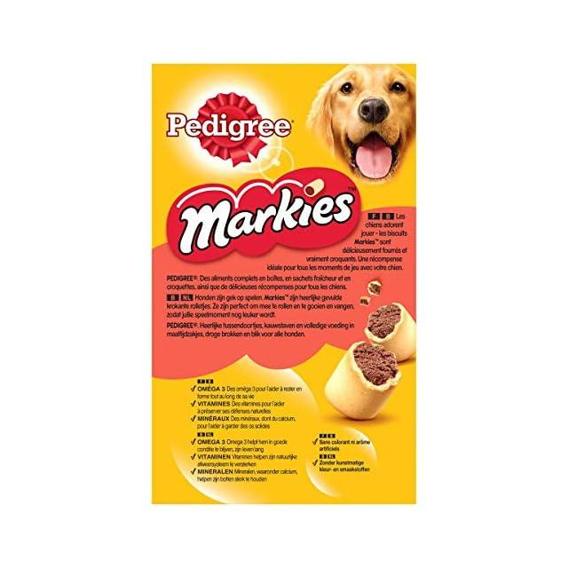 PEDIGREE Markies Original - Biscuits Fourrés pour Chien, 12 Boîtes de 500g de Friandises