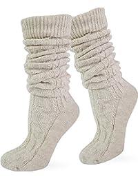 Trachtenstrümpfe, Socken, Kniestrümpfe mit Zopfmuster in verschiedenen Farben