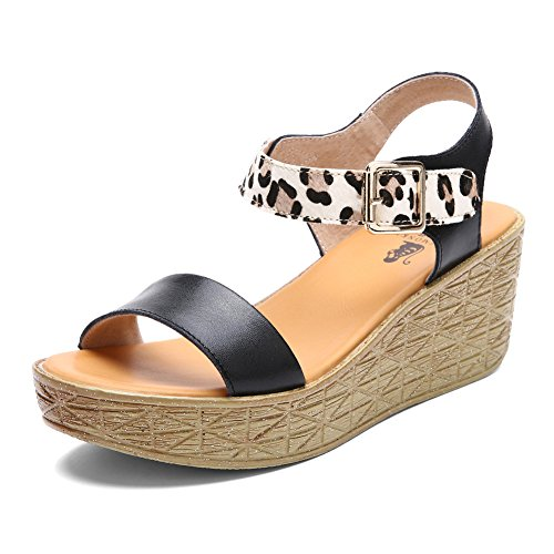 Summer coins Sandales femme/ Muffins thick-soled Sandals mode décontractée A