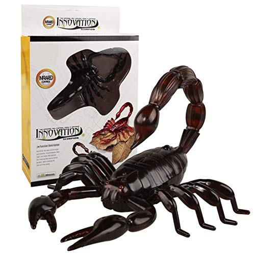 Zgifts Electronic Realistic Animal Scorpion RC Wireless Infrared Remote Control Prank Insect Scary Trick Animal Toy Kids Kids Girls Gift für Weihnachten Halloween,Black