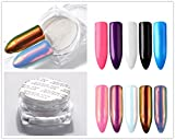 PhantomSky Nail Arte Glitter Unghie Scintillio al Neon Brillante Magico Specchio Cromo Polvere di Chiodo Manicure Pigmento DIY Unghie Tips Decorazione