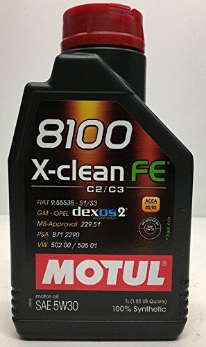 Motul, Motul-104775X Clean FE 5W30,olio motore completamente sintetico, 1 litro