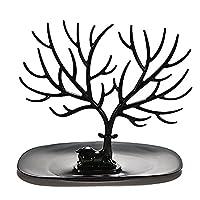 OULII Necklace Holder Bracelet Stand / Jewelry Organizer / Jewelry Tree Decorative Deer Antler Tree Design (Black)