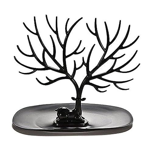 OULII Collier support Bracelet Stand / organisateur bijoux / bijoux arbre décoratif Deer Antler arbre Design (noir)