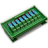 ELECTRONICS-SALON montaje en carril DIN 8 DPDT de relé del módulo de interfaz, DC12V versión.