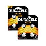 Duracell Specialty 2032 Lithium-Knopfzelle 3V, 8er-Packung (CR2032 /DL2032 entwickelt für die Verwendung in Schlüsselanhängern, Waagen, Wearables und medizinischen Geräten.