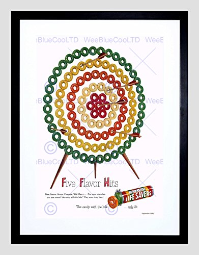 advert-1949-life-savers-sweets-candy-fruit-target-framed-art-print-b12x10489