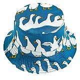 BeautyTop Baby Jungen Sommer Schlichtes Karikatur Drucken Faltende Sonnenhut Ente Gemustert Fischer Hut Sommerhut Kinder Strandhut für Kleinkinder Strohhut Schöne Kappenumfang Beckenmütze