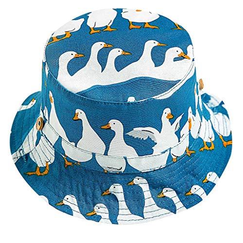 Louyihon-Kleidung Kinderhat Kid Jungen Mädchen Cartoon Strand Verstellbarer Kinnriemen Sonnenschutz Eimer Hut für Schule, Reisen, Klettern, Reiten, Tägliches Tragen (Blau, 50)