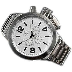 ORKINA Large Dial Six-pin Quartz Chronograph Watch Men Strip Personality