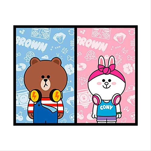 mailang Cartoon Anime Charakter Glas Aufkleber Matte Badezimmer Küche wasserdichte Aufkleber 60 * 80Cm 2 Stück