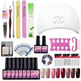 Best kit de uñas de gel - Saint-Acior 36W UV/LED Secador de Uñas Lámpara 8PC Review