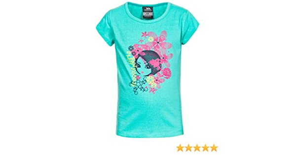 Trespass Kids Lovebird T-Shirt with Cool Frontal Print for Children Girls//Toddlers Ages 2-12 for Outdoor//Fun//Sports//Leisure