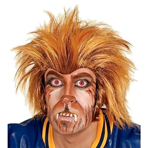 Islander Fashions Herren Teen Wolf Per�cke 80er Jahre Halloween Kost�m Erwachsene Werwolf Kost�m Outfit One Size