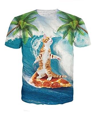 Uideazone Unisex 3d Print Funny Mens Short Sleeve T-shirts Multicoloured UK S-L