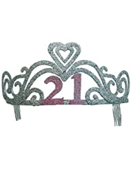 Purpurina 21cumpleaños tiara