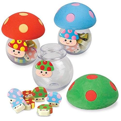 Pilz Radiergummis im 9er Set - Pilze Radierer Pilzköpfe Mushroom