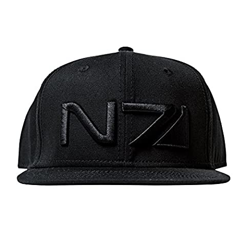 Mass Effect N7 Logo Snapback Cap Baseball Cap Black Cotton