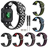nieliangw0q Bracelet de Montre/Bracelet de Montre - Bracelet pour Fitbit Versa-Remplacement Bracelet en Silicone pour Bracelet de Montre Souple pour Garmin Forerunner 35 Noir + Rose