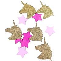 Confettis Licorne Etoile rose - décoration fête fille anniversaire babyshower(fait à la main)