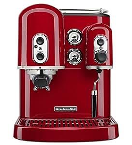 KitchenAid 5kes2102eob Machine à expresso Artisan Onyx Rouge Empire