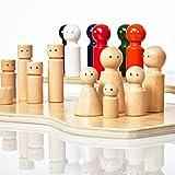 Lumaland Familienaufstellung Familienbrett Systembrett Set 32 Teile aus Holz