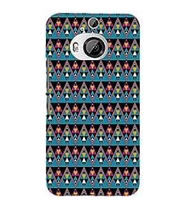 EPICCASE cris cross Mobile Back Case Cover For HTC One M9 Plus (Designer Case)