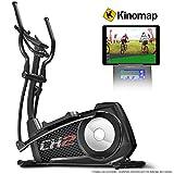 Sportstech Cyclette ellittica CX2 - con App e generatore di Potenza Integrato - Kinomap - Trainer ellittico, Console Bluetooth e Supporto per Tablet Incluso - Massa volano di 27 kg