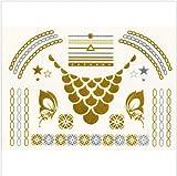 BIJOUX-DE-PEAU-TATTOOS-PHMRES-Tattoos-collier-Couleurs-OR-et-ARGENT-et-NOIRnotice-en-franais