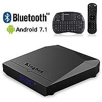 Kingbox 2018 K3 Android 7.1 TV Box S912 Octa Core/2.4G+5G Dual WiFi/BT4.0/1000M LAN/2GB RAM+16GB ROM/4K/64 Bit/H.265 with Mini Wireless Keyboard