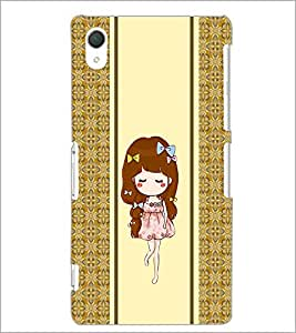 PrintDhaba Cute Girl D-2789 Back Case Cover for SONY XPERIA Z2 (Multi-Coloured)