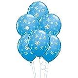 Snowflakes & Sparkles Robins Ei-Blau 11 'Qualatex Latexballons x 5