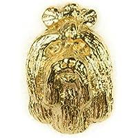 Bichón maltés Hecho en Reino Unido Artístico Perro Pin Insignia Colección (bañoda en oro de 22 quilates)
