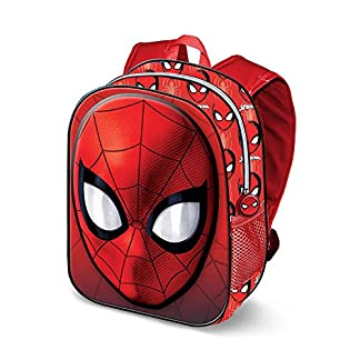 51XGFHf38UL. SS324  - Karactermania Spiderman Spiderweb-3D Rucksack (Klein) Mochila Infantil 31 Centimeters 8.5 Rojo (Red)
