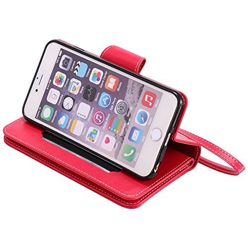"""Lankashi Housse Case Stand Cuir Cover Flip Etui Coque Protection Skin Wallet Pour Apple Iphone 6 Plus 5.5"""" Green Desing Rose"""
