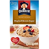 Quaker Instant Oatmeal Maple Brown Sugar, Breakfast Cereal, 10-Packet Boxes (Pack of 4)