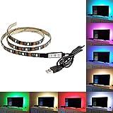 "XERGY USB 5V Powered RGB LED Flexible Strip Light With Mini Controller(1 Meter for TV's upto 32"")"