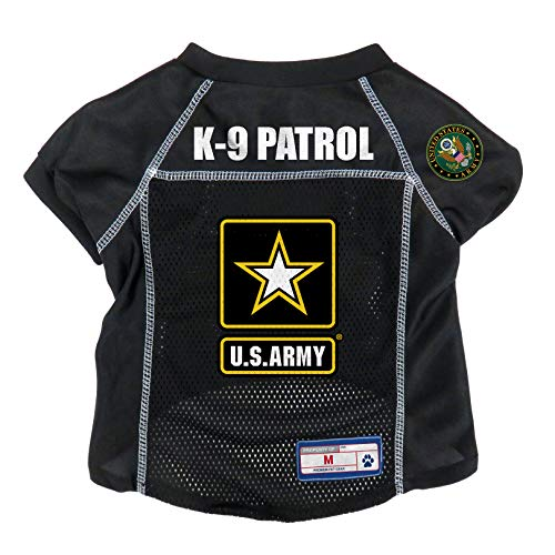 Littlearth US Military Pet Jersey, Unisex, US Army, schwarz, Small -