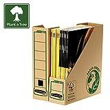 Fellowes 4470001 Porte-revues A4 Banker Box Earth Series - Montage manuel (lot de 20)