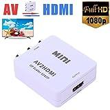 Childplaymate Mini RCA AV to HDMI Converter Adapter Composite AV2HDMI Converter