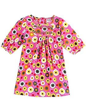 Nova - Kurzarm Mädchen Kleid mit buntem Blumendruck aus weichem Kord - 100% Baumwolle