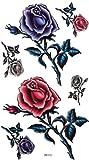 GGSELL King Horse Männer und Frauen sexy Tattoo-Aufkleber wasserfester Farbe Rosen ultimative Verschönerung