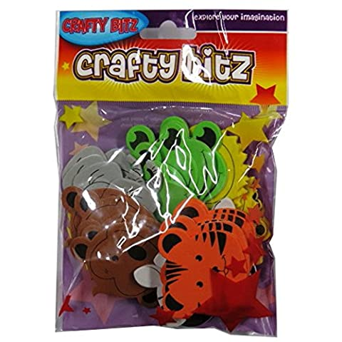 Foam Craft Eva Shaped Stickers - Zoo Animals, Pack of