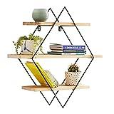 Book Jia Bücherregale Nordic Wohnzimmer Hängen Runde massivholz schmiedeeisen Display Bücherregal/Einfache Kreative Wand Dekorative Bücherregal (Größe : 80*15*80cm)